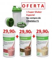 OFERTA de 1 SUPER SHAKER ESPECIAL no Pack 3 Batidos Herbalife Nutrition