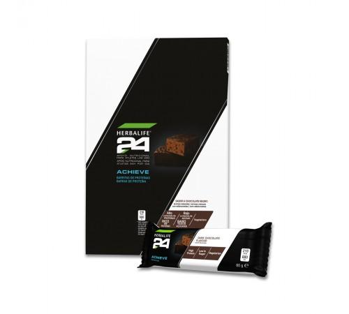 Barras de Proteína Achieve H24 Chocolate Negro 6x60g